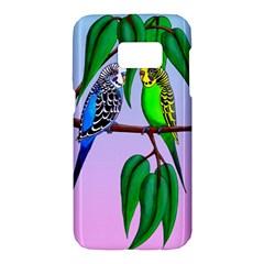 Budgies In The Gum Tree Samsung Galaxy S7 Hardshell Case  by retz