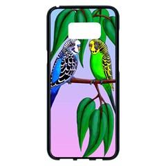 Budgies In The Gum Tree Samsung Galaxy S8 Plus Black Seamless Case by retz