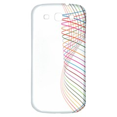 Line Wave Rainbow Samsung Galaxy S3 S Iii Classic Hardshell Back Case by Mariart