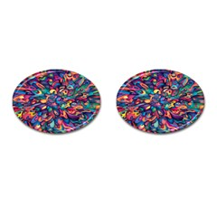 Moreau Rainbow Paint Cufflinks (oval) by Mariart