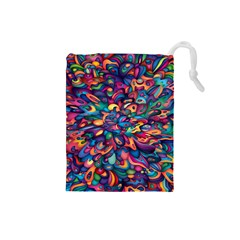 Moreau Rainbow Paint Drawstring Pouches (small)  by Mariart