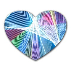 Light Means Net Pink Rainbow Waves Wave Chevron Green Blue Sky Heart Mousepads by Mariart