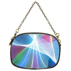 Light Means Net Pink Rainbow Waves Wave Chevron Green Blue Sky Chain Purses (two Sides)  by Mariart