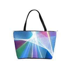 Light Means Net Pink Rainbow Waves Wave Chevron Green Blue Sky Shoulder Handbags by Mariart