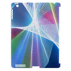 Light Means Net Pink Rainbow Waves Wave Chevron Green Blue Sky Apple Ipad 3/4 Hardshell Case (compatible With Smart Cover) by Mariart