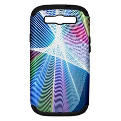 Light Means Net Pink Rainbow Waves Wave Chevron Green Blue Sky Samsung Galaxy S Iii Hardshell Case (pc+silicone) by Mariart