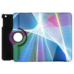 Light Means Net Pink Rainbow Waves Wave Chevron Green Blue Sky Apple Ipad Mini Flip 360 Case by Mariart