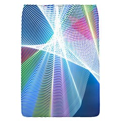 Light Means Net Pink Rainbow Waves Wave Chevron Green Blue Sky Flap Covers (s)  by Mariart
