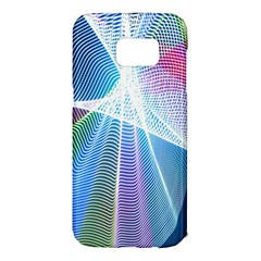 Light Means Net Pink Rainbow Waves Wave Chevron Green Blue Sky Samsung Galaxy S7 Edge Hardshell Case by Mariart