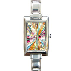 Illustration Material Collection Line Rainbow Polkadot Polka Rectangle Italian Charm Watch by Mariart