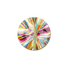 Illustration Material Collection Line Rainbow Polkadot Polka Golf Ball Marker by Mariart