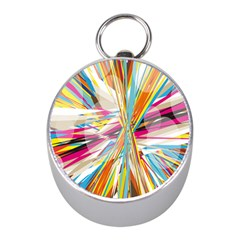 Illustration Material Collection Line Rainbow Polkadot Polka Mini Silver Compasses by Mariart