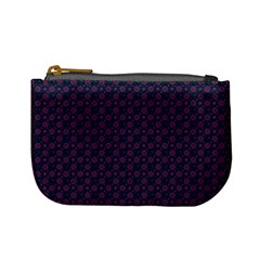 Purple Floral Seamless Pattern Flower Circle Star Mini Coin Purses by Mariart