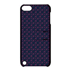 Purple Floral Seamless Pattern Flower Circle Star Apple Ipod Touch 5 Hardshell Case With Stand by Mariart