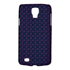 Purple Floral Seamless Pattern Flower Circle Star Galaxy S4 Active by Mariart