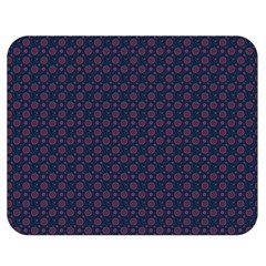 Purple Floral Seamless Pattern Flower Circle Star Double Sided Flano Blanket (medium)  by Mariart