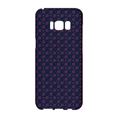 Purple Floral Seamless Pattern Flower Circle Star Samsung Galaxy S8 Hardshell Case  by Mariart