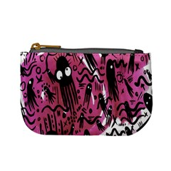Octopus Colorful Cartoon Octopuses Pattern Black Pink Mini Coin Purses by Mariart