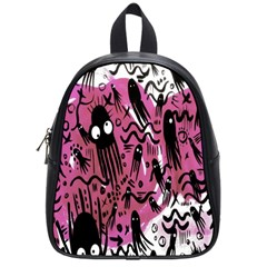 Octopus Colorful Cartoon Octopuses Pattern Black Pink School Bags (small)  by Mariart