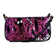 Octopus Colorful Cartoon Octopuses Pattern Black Pink Shoulder Clutch Bags by Mariart