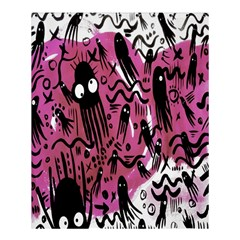 Octopus Colorful Cartoon Octopuses Pattern Black Pink Shower Curtain 60  X 72  (medium)  by Mariart