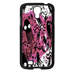 Octopus Colorful Cartoon Octopuses Pattern Black Pink Samsung Galaxy S4 I9500/ I9505 Case (black) by Mariart