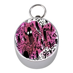Octopus Colorful Cartoon Octopuses Pattern Black Pink Mini Silver Compasses by Mariart