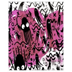 Octopus Colorful Cartoon Octopuses Pattern Black Pink Drawstring Bag (small) by Mariart