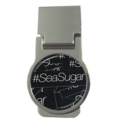 Sea Sugar Line Black Money Clips (round)  by Mariart