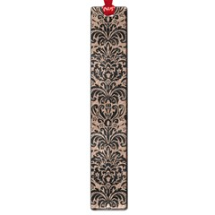 Damask2 Black Marble & Brown Colored Pencil (r) Large Book Mark by trendistuff