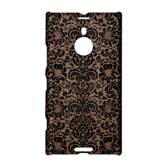 Damask2 Black Marble & Brown Colored Pencil (r) Nokia Lumia 1520 Hardshell Case by trendistuff