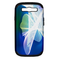 Net Sea Blue Sky Waves Wave Chevron Samsung Galaxy S Iii Hardshell Case (pc+silicone) by Mariart