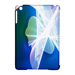 Net Sea Blue Sky Waves Wave Chevron Apple Ipad Mini Hardshell Case (compatible With Smart Cover) by Mariart