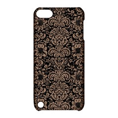 Damask2 Black Marble & Brown Colored Pencil Apple Ipod Touch 5 Hardshell Case With Stand by trendistuff