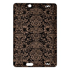 Damask2 Black Marble & Brown Colored Pencil Amazon Kindle Fire Hd (2013) Hardshell Case by trendistuff