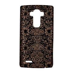 Damask2 Black Marble & Brown Colored Pencil Lg G4 Hardshell Case by trendistuff