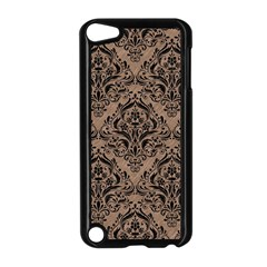 Damask1 Black Marble & Brown Colored Pencil (r) Apple Ipod Touch 5 Case (black) by trendistuff