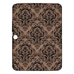 Damask1 Black Marble & Brown Colored Pencil (r) Samsung Galaxy Tab 3 (10 1 ) P5200 Hardshell Case  by trendistuff