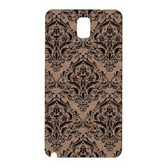 Damask1 Black Marble & Brown Colored Pencil (r) Samsung Galaxy Note 3 N9005 Hardshell Back Case by trendistuff