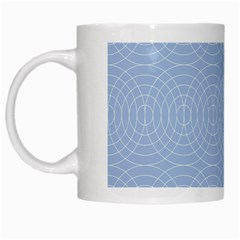 Seamless Lines Concentric Circles Trendy Color Heavenly Light Airy Blue White Mugs by Mariart