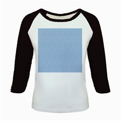 Seamless Lines Concentric Circles Trendy Color Heavenly Light Airy Blue Kids Baseball Jerseys by Mariart