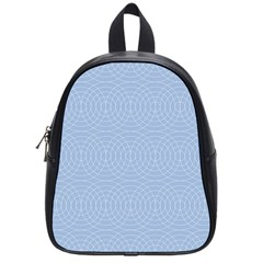 Seamless Lines Concentric Circles Trendy Color Heavenly Light Airy Blue School Bags (small)  by Mariart