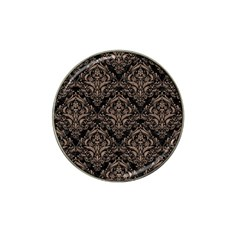 Damask1 Black Marble & Brown Colored Pencil Hat Clip Ball Marker by trendistuff