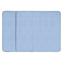 Seamless Lines Concentric Circles Trendy Color Heavenly Light Airy Blue Samsung Galaxy Tab 8 9  P7300 Flip Case by Mariart