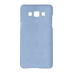 Seamless Lines Concentric Circles Trendy Color Heavenly Light Airy Blue Samsung Galaxy A5 Hardshell Case  by Mariart