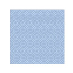 Seamless Lines Concentric Circles Trendy Color Heavenly Light Airy Blue Small Satin Scarf (square) by Mariart