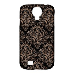 Damask1 Black Marble & Brown Colored Pencil Samsung Galaxy S4 Classic Hardshell Case (pc+silicone) by trendistuff
