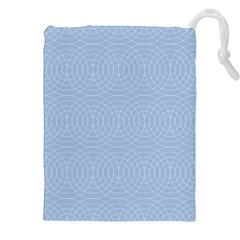 Seamless Lines Concentric Circles Trendy Color Heavenly Light Airy Blue Drawstring Pouches (xxl) by Mariart