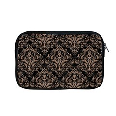Damask1 Black Marble & Brown Colored Pencil Apple Macbook Pro 13  Zipper Case by trendistuff