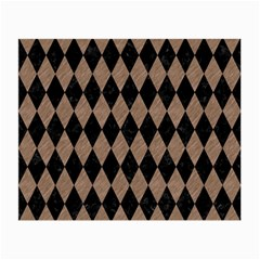Diamond1 Black Marble & Brown Colored Pencil Small Glasses Cloth (2 Sides) by trendistuff